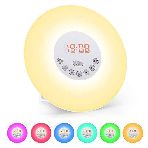 Lichtwecker, solawill Wake Up Licht mit FM Radio...