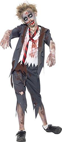 Smiffys Kinder Zombie Schuljunge Kostüm, Hose,...