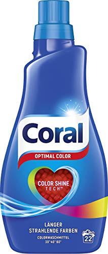 Coral Waschmittel Optimal Color flüssig, 2er Pack...