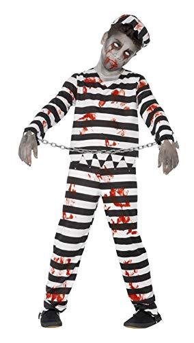 Smiffys Kinder Zombie Sträfling Kostüm, Hose,...