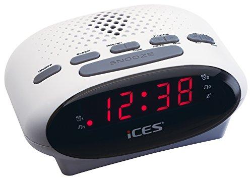 iCES ICR-210 Uhrenradio (2X Weckzeiten,...
