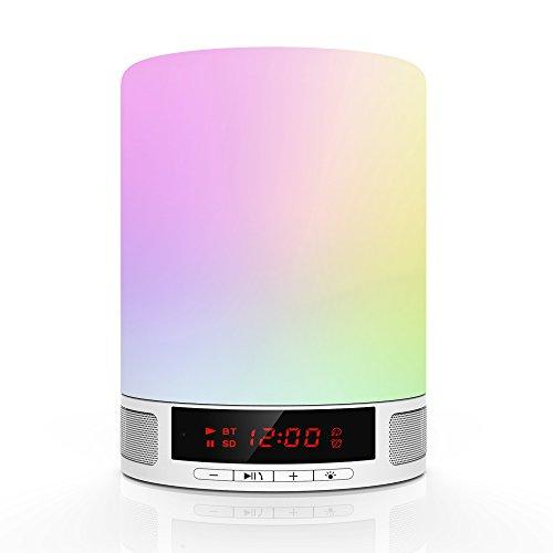 Bluetooth Lautsprecher Wecker Kinder Lampe,...
