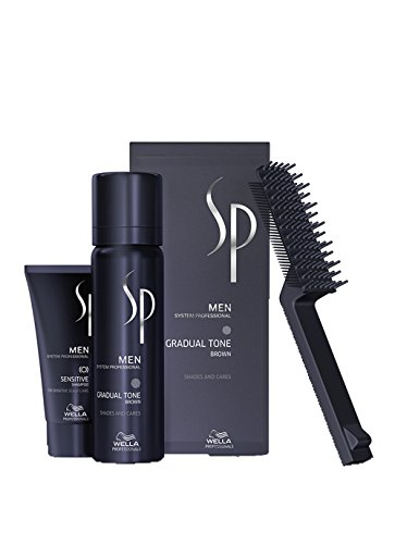 Wella SP Men Gradual Tone Brown 60 ml + Shampoo,...