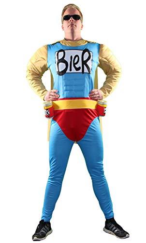 Foxxeo Das Biermann Helden Kostüm für echte...