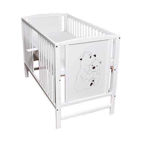 Babybett Gitterbett Kinderbett Sprossen 120x60...