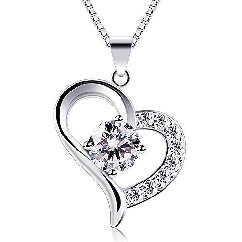B.Catcher Halskette Herz Damen 925 Sterling Silber...