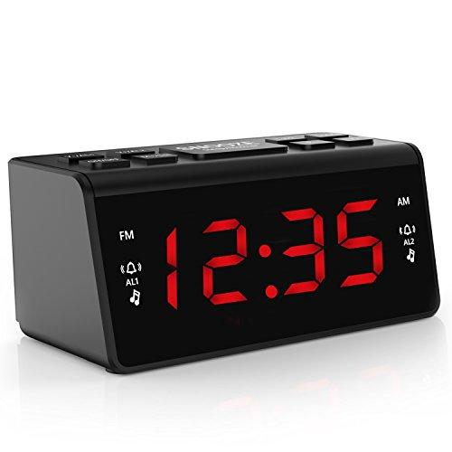 Digital FM AM Radiowecker Uhr Mit...