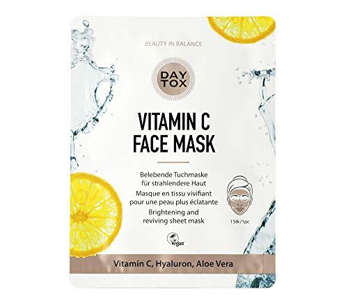 DAYTOX - Vitamin C Face Mask - Belebende Tuchmaske...