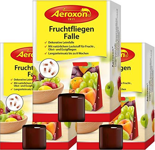 Aeroxon - Fruchtfliegenfalle - 3 Stück - Mittel...