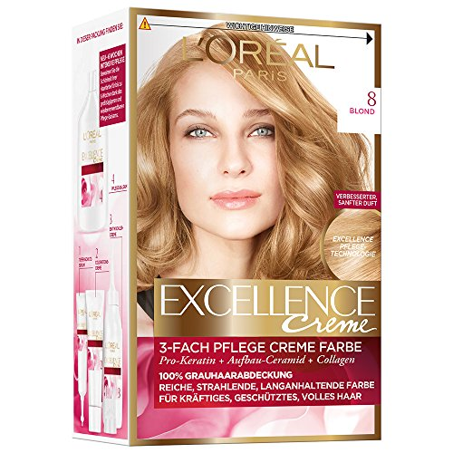 L'Oréal Paris Excellence Creme Coloration, 8 -...