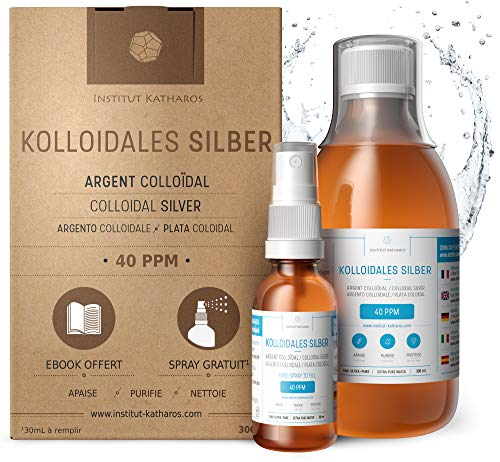 Kolloidales Silber 100% natürlich 40 PPM (300 ml)...