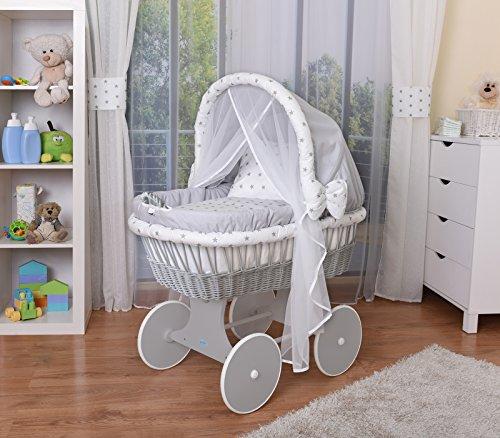 WALDIN Baby Stubenwagen-Set mit...