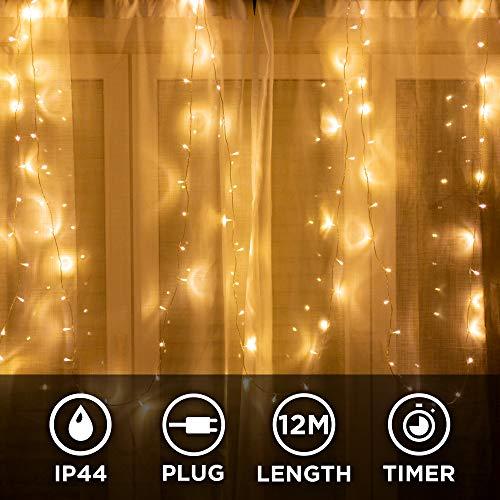100er LED Lichterkette für innen und außen - 12...