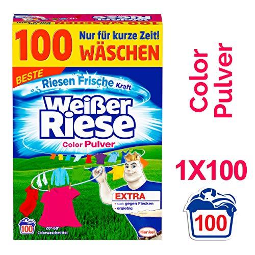 Weißer Riese Color Pulver, Waschmittel, 100...