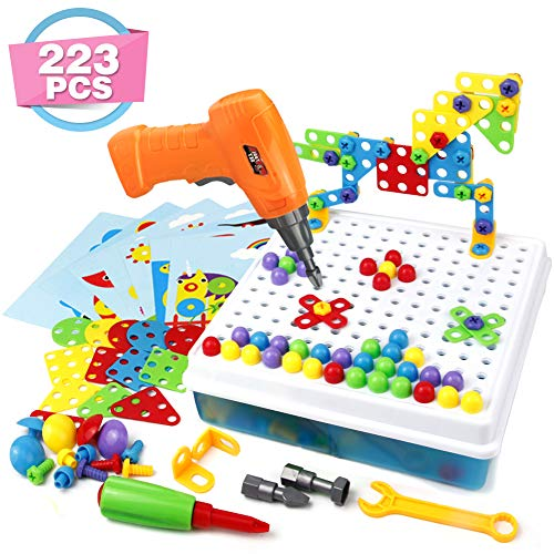 Symiu 3D Puzzle Kinder Mosaik Steckspiel Bausteine...