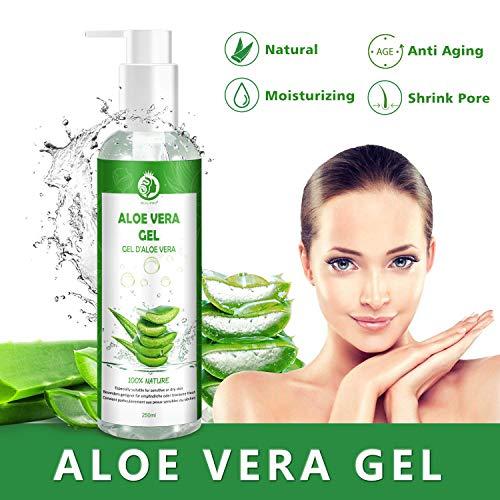 Aloe Vera Gel 100% Pur - für Gesicht, Haare und...