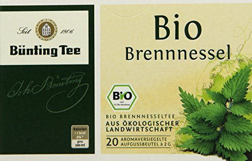 Bünting Tee Bio Brennnessel 20 x 2g Beutel, 4er...