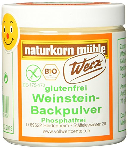 Werz Weinstein Backpulver glutenfrei 2er Pack (2 x...
