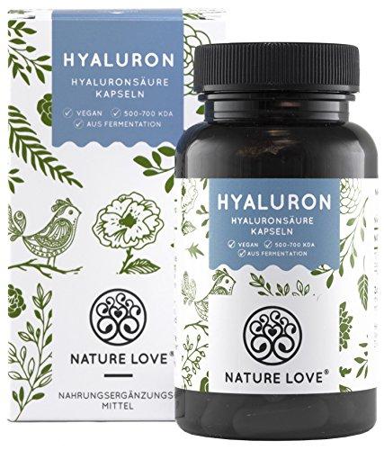 NATURE LOVE Hyaluronsäure Kapseln - Hochdosiert:...