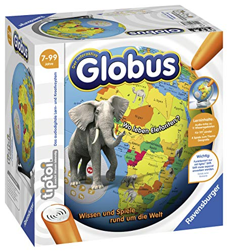 Ravensburger tiptoi Der interaktive Globus Spiel,...