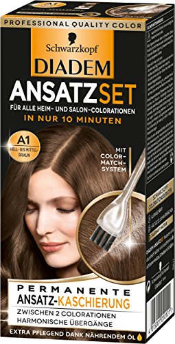 Schwarzkopf Diadem Ansatzset Haarfarbe, A1...