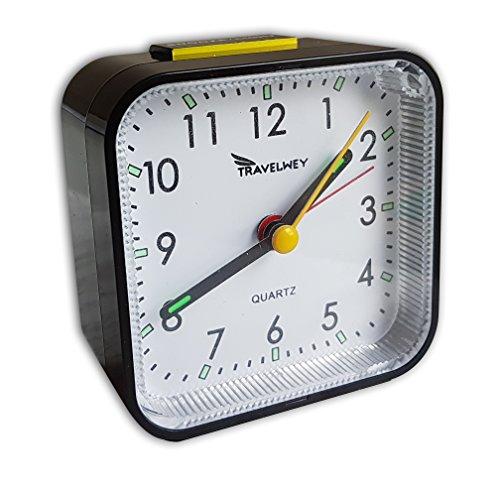 Travelwey Analog Uhr, Kein Ticken, Alarm,...