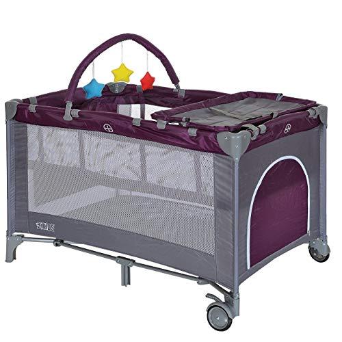 LCP Kids Baby-Reisebett 120x60 klappbar mit...