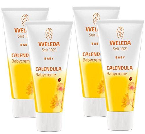 Weleda Calendula-Babycreme, 4er Pack (4 x 75 ml