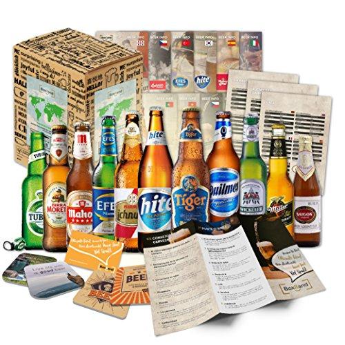 12x BIERE DER WELT (1x Geschenk Karton + 12x Bier...