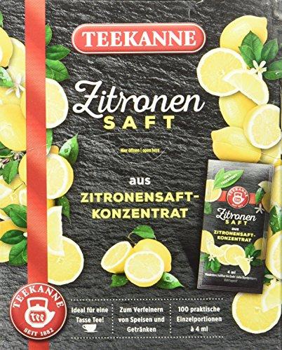 Teekanne Zitronensaft 100 x 4ml, 1er Pack (1 x 400...