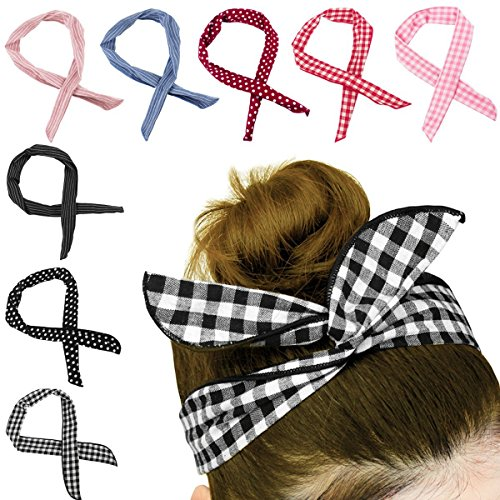 HBselect 8 Stück biegbares Haarband Bunny Ohr...