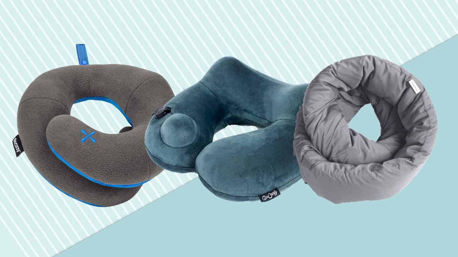 Nackenkissen Reise Kissen aufblasbar Nackenhörnchen Flugzeug Kopf Schlaf Kissen