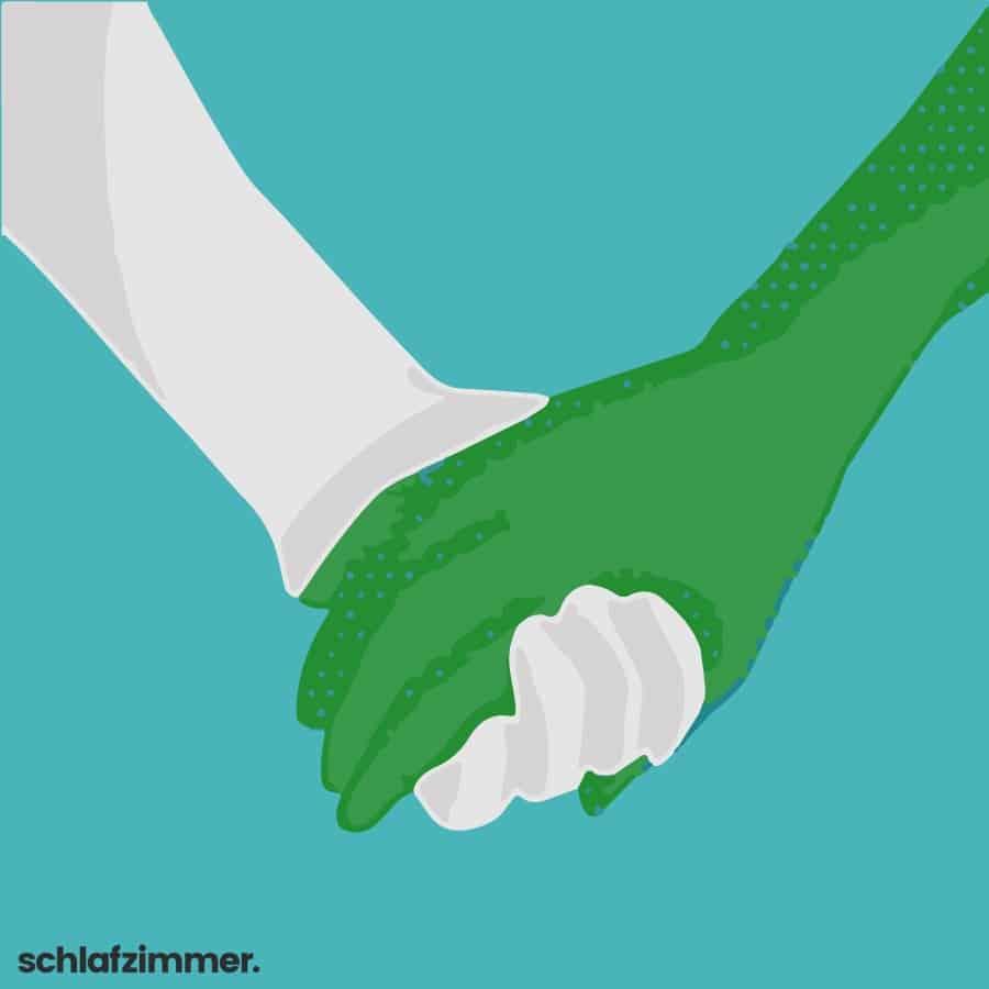 ich halte deine hand wenn du traurig bist