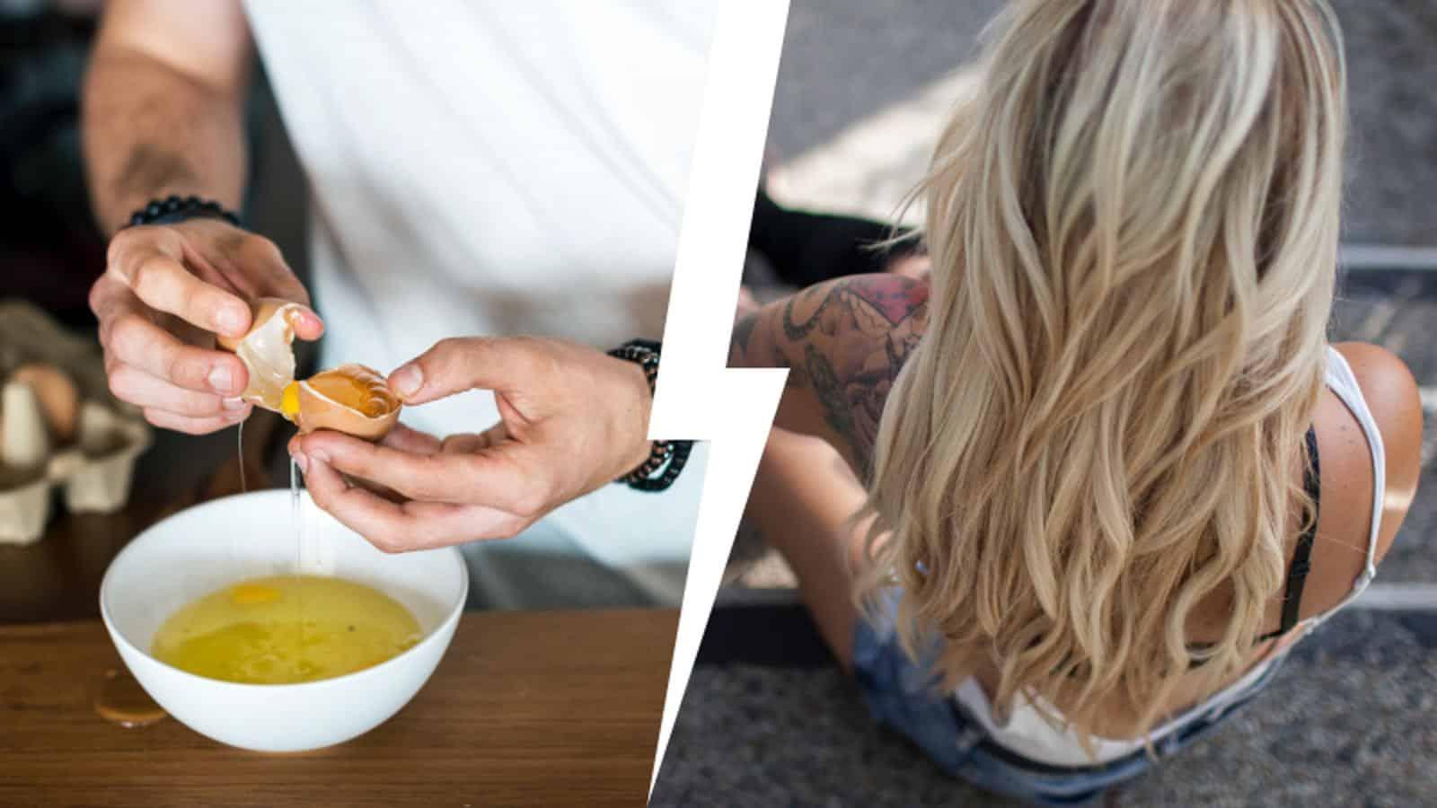 Eigelb für die Haare- Vorteile für das Haarwachstum