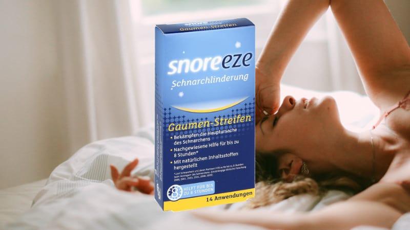 Snoreeze Gaumenstreifen gegen Schnarchen | Info & Kaufberatung