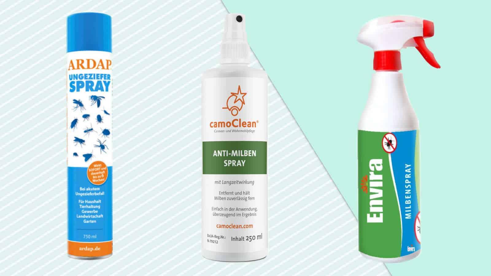 Milbenspray Vergleich- Die 5 besten Sprays gegen Milben + Kaufratgeber