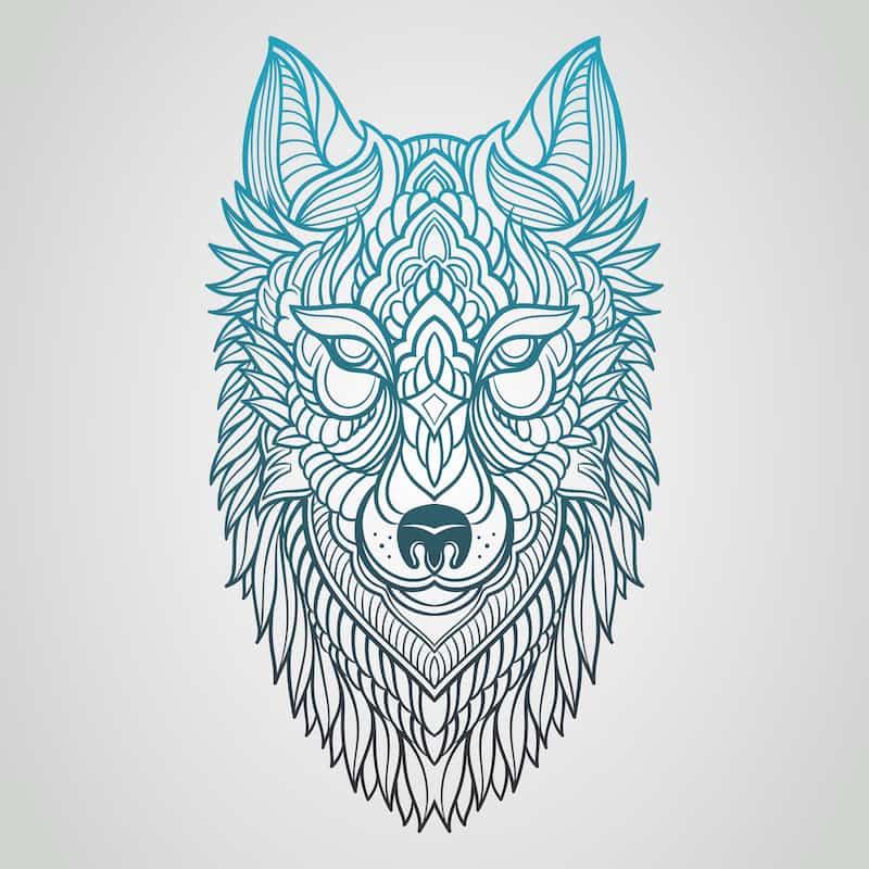 Wolf Tattoo Designs Tribal Wolf Tattoo Tribal 7