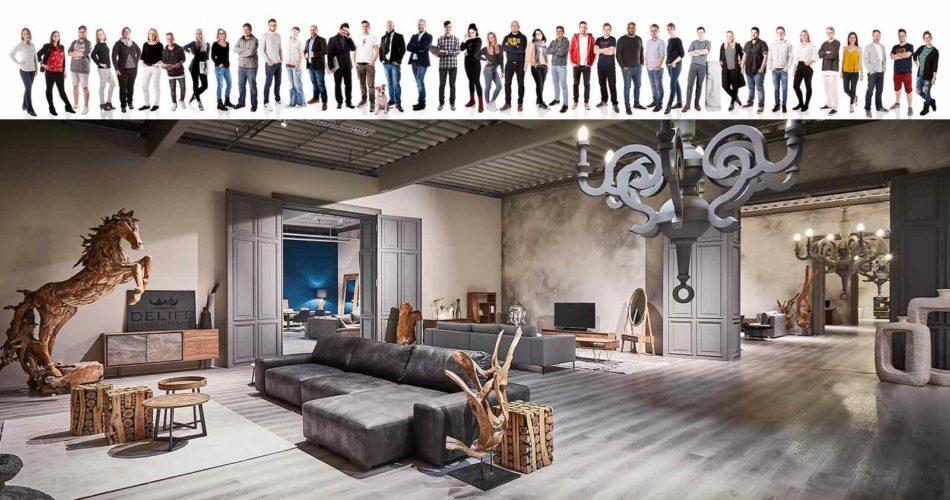Das Unternehmen hat eigene Showrooms, um Ihre Luxusmöbel zu präsentieren.