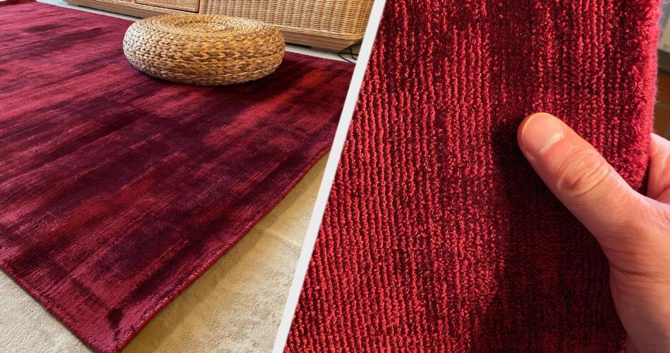 Morgenland Teppiche- Designer Teppich Chester dunkelrot Test 2021 (1)