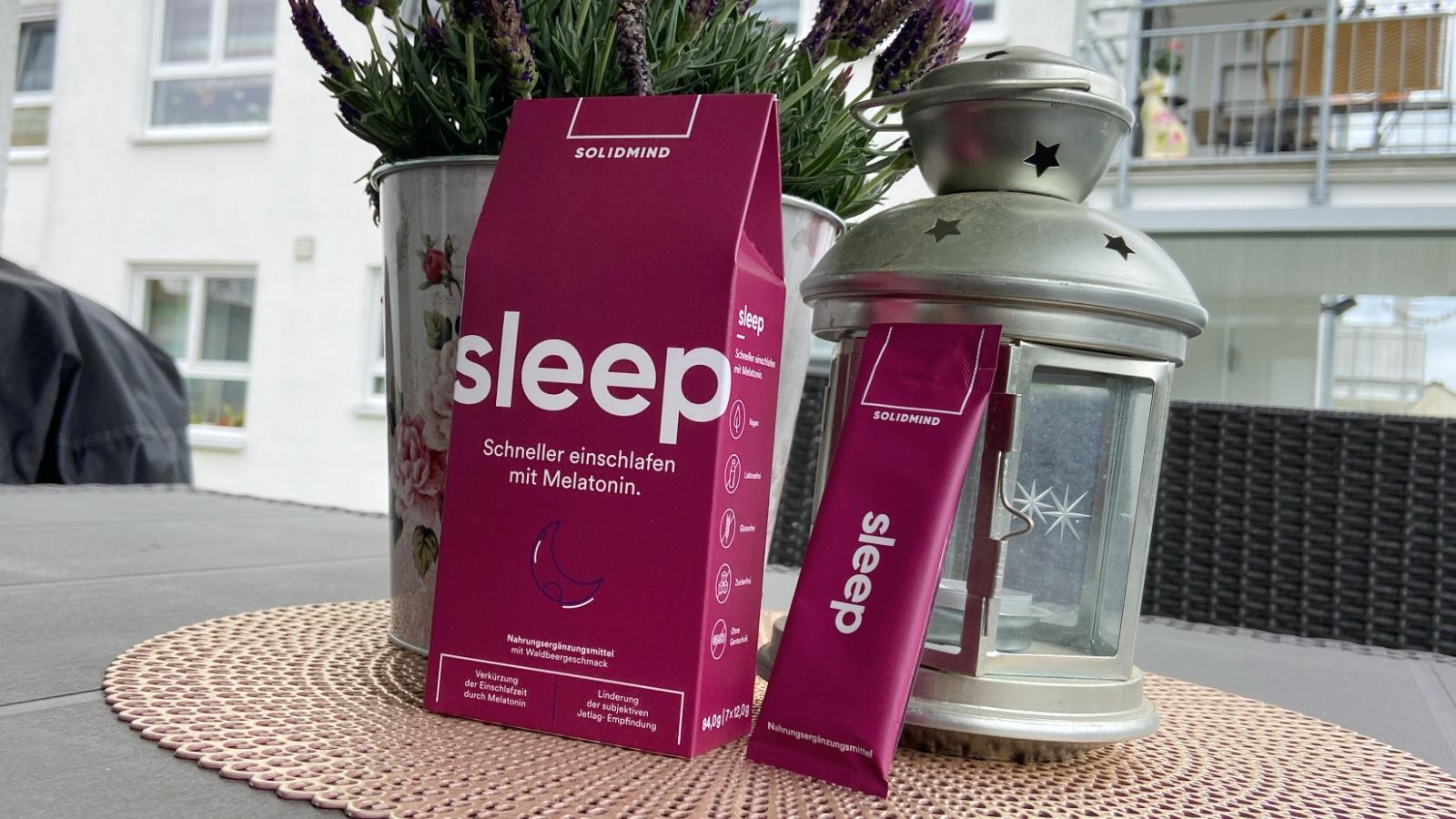 Schneller einschlafen mit Melatonin: Solidmind Sleep im